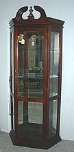 MAHOGANY AND GLASS CURIO CABINET