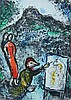 MARC CHAGALL (1887-1985) RUSSIAN/FRENCH - ORIGINAL COLORED LITHOGRAPH