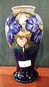 A Moorcroft earthenware vase of baluster form,