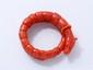 Bracelet en spirale stylisant un dragon composé de perles de corail. Travail du XIX° siècle.