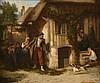 Hippolyte BELLANGÉ (1800-1866). «Le retour du soldat conscrit, 1862». Huile sur bois. Signée et datée en bas à droite. 47 x 54 cm.