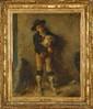 Emile BOIVIN. (Metz 1845 - Paris 1899). «Pifferaro jouant de la zamponia». Sur sa toile d'origine. 73 x 59,5 cm. Signé en bas à droite Em Boilvin. Expert: R. MILLET