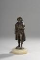«Napoléon en pied». Bronze à patine médaille sur socle onyx. H. totale: 105 cm. Epoque XIXème