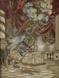 L'Adoration de Joseph. Papier, tissu et pierres de couleur. 47 X 35. Époque, début XIXème. /16