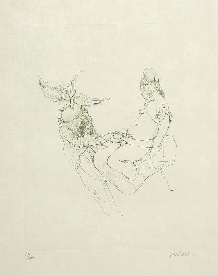 BELLMER. «La fécondité». Lithographie n°74/100, signée en bas à droite. 32 X 25.