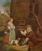 Ecole HOLLANDAISE du XIXème siècle. «Le marchand de poules». Toile. 55,5 x 40 cm. Expert: R. MILLET.