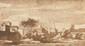 Jacob VAN DER ULFT (1627 - 1689). «vue de Saint Jean de Latran». Plume et encre brune, lavis brun. Signé en bas à droite. 14 x 26 cm. (rousseurs). Expert : Cabinet de Bayser.