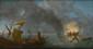 Ecole HOLLANDAISE du XVIIIème siècle, suiveur de Ludolf BAKHUIZEN. «Le naufrage sur une mer calme». Toile. 64 x 121,5 cm. Expert: R. MILLET