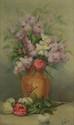 Ecole FRANCAISE du XXème siècle. «Bouquet de fleurs». Toile. 64 x 47,5 cm. Expert: R. MILLET.