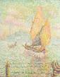 Ecole Française pointilliste. «Venise». Toile porte une signature apocryphe P SIGNAC en bas à droite. 48 x 38 cm