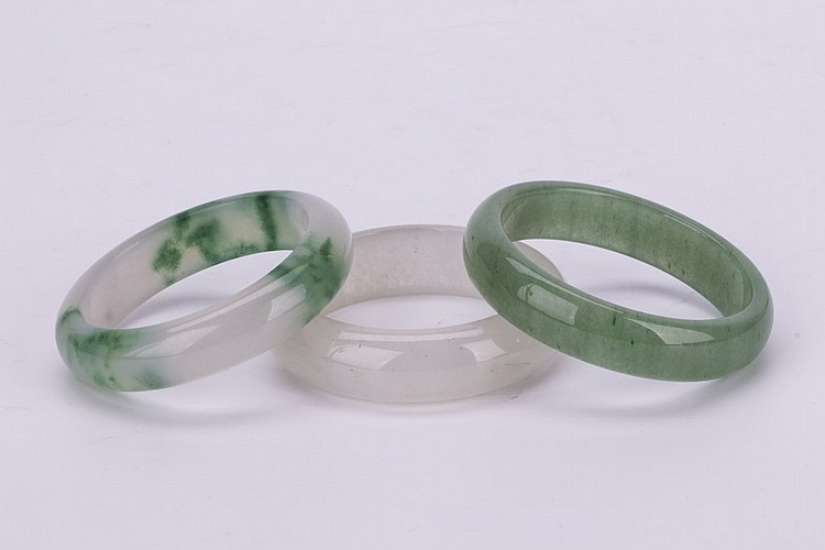Three Chinese Jade Bangles