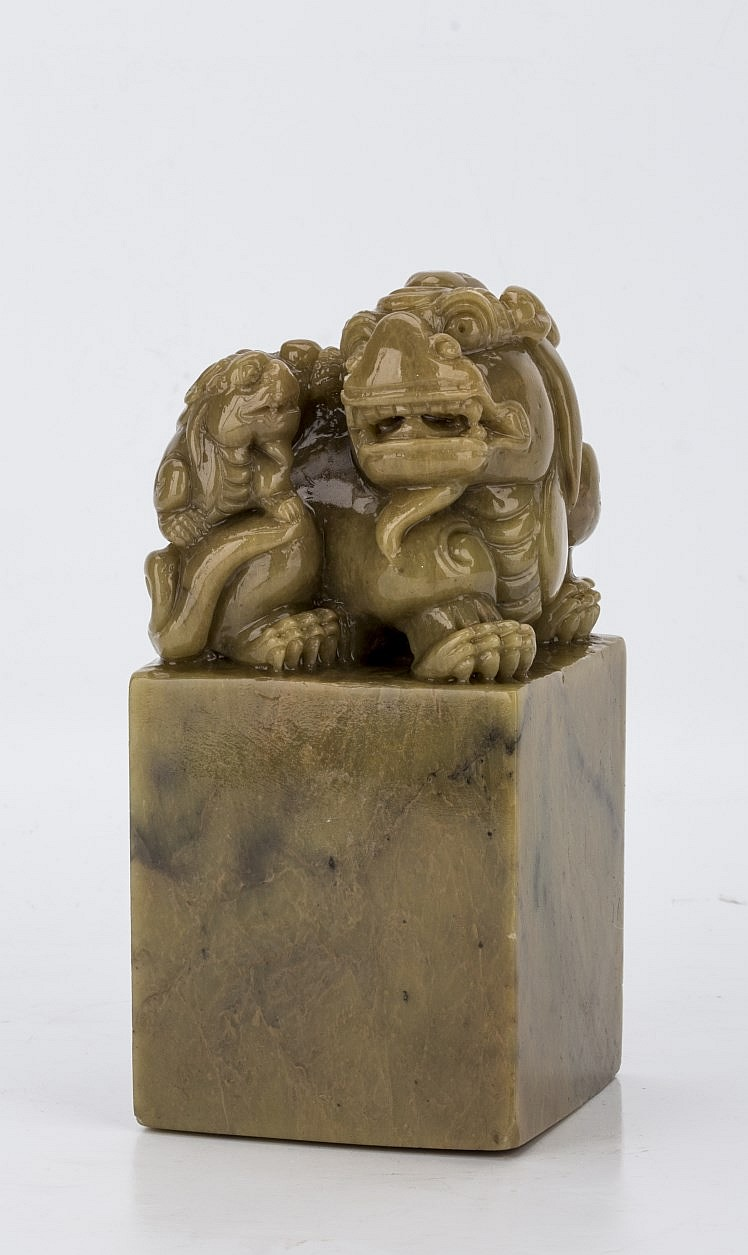 Chinese Carved Soapstone Shoushan Seal