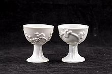 Pair of Blanc de Chine Dehua Glaze Porcelain Cups