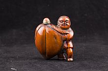 Unusual Carved Snuff Bottle