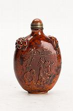 Chinese Wood Carved Snuff Bottle