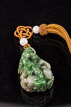 Chinese Carved Multi-colored Jade Ornament