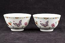 Pair of Famille Rose Porcelain Bowl