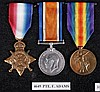 A World War I medal trio comprising 1914 Star,