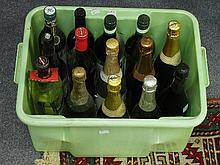 A quantity of spirits including Martini, Vermouth
