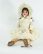 A German bisque head doll, Armand Marseille No 390