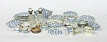 A Staffordshire doll's part dinner service and oth
