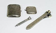 A silver-handled cigar cutter, SC&Co;, London 1909,