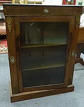 A Victorian walnut pier cabinet, with gilt metal m