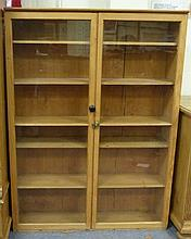 A pine display cabinet, SIZE???