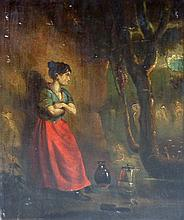 19th Century English School/Peasant Woman with Pit
