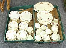 A box of Royal Worcester china, Roanoke pattern