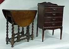 An Edwardian stained beech music cabinet, 51cm (20