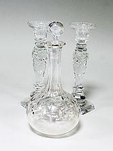 A glass decanter and stopper, 29cm (11.5'') high