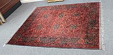 An Afghan Khan Mohammadi rug, the brick red ground