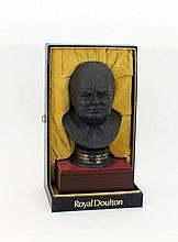 A Wedgwood bust of Winston Churchill, by Royal Dou
