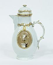 A Furstenberg hot water pot, late 18th Century, of