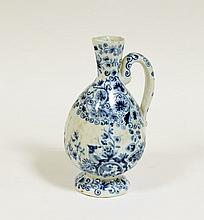 A Dutch delft ewer, early 18th Century,  marked be