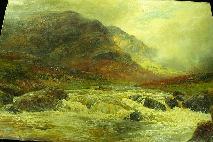 William Lakin Turner, 1896 MOUNTAINOUS LANDSCAPE