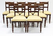 A set of nine early 19th Century mahogany dining