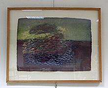 Annabel Keatley/Afloat 1995/coloured chalk and