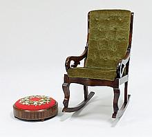 A child's Victorian rocking chair with deep