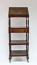 A George IV mahogany four-tier what-not, the top