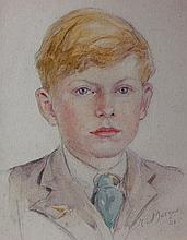 Marjorie Mostyn/Portrait of a Boy/ dated