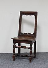A 17th Century Normandy monk's chair with open