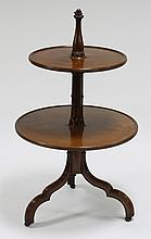 A fine George III mahogany Gothic two-tier dumb