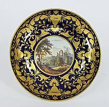 A Derby saucer-dish, circa 1810, the centre