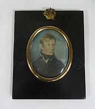 Early 19th Century School/Portrait Miniature of a