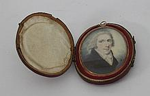 English School, circa 1800/Portrait Miniature of a