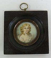English School, circa 1790/Portrait Miniature of a