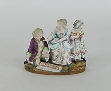 A French 19th Century bisque figure group, by Jean