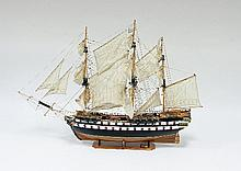 A model of the French Frigate 'Superbe', a